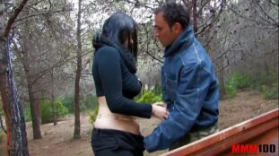 Bigtited gipsy whore fucked in the ass in the woods